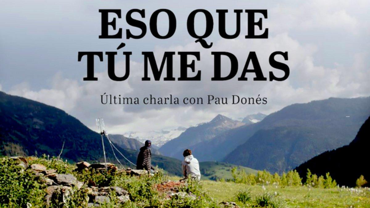 'Eso que tú me das' fue la última entrevista que concedió Pau Donés