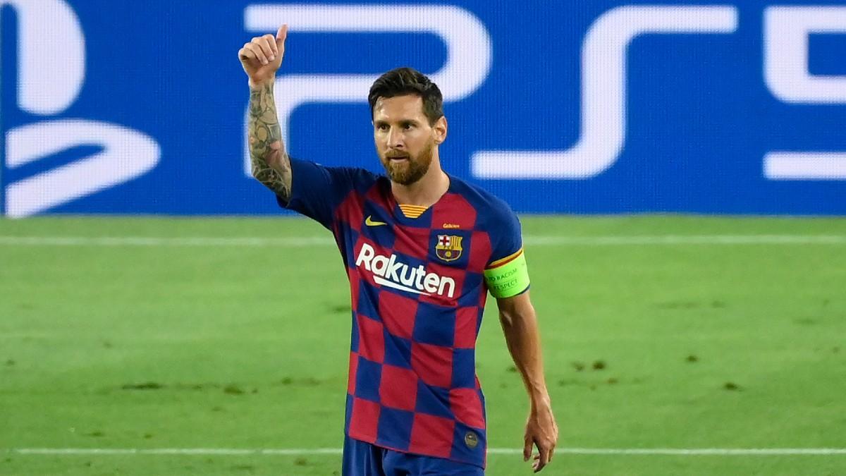 Messi celebra un gol con el Barcelona (AFP).