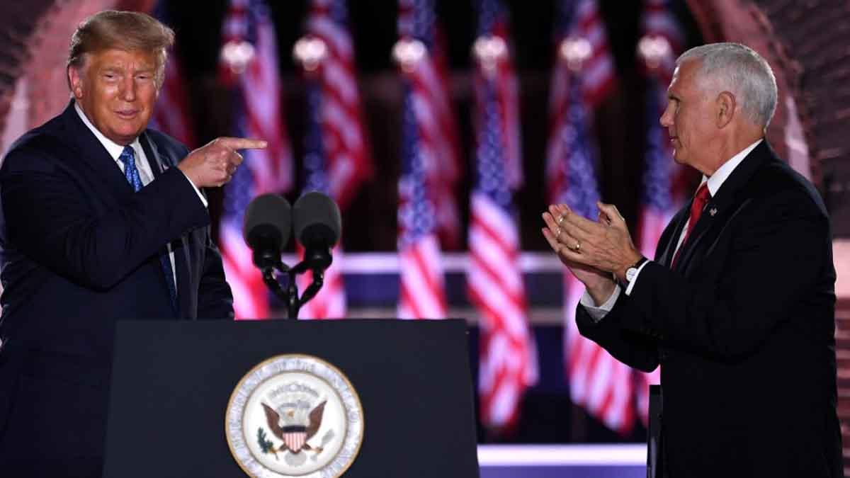 Donald Trump y Mike Pence durante la Convención del Partido Republicano. Foto: AFP