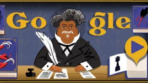 El Doodle de Google dedicado a Alejandro Dumas