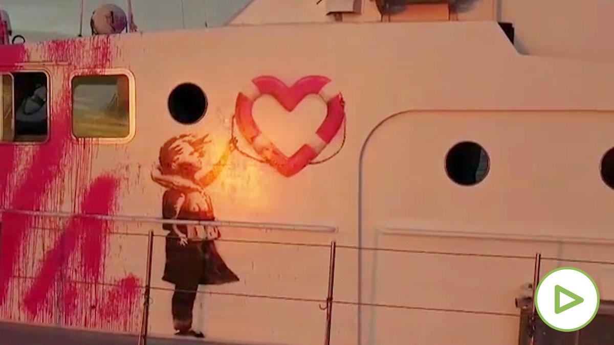 Banksy costea un barco para socorrer a migrantes en el Mediterráneo