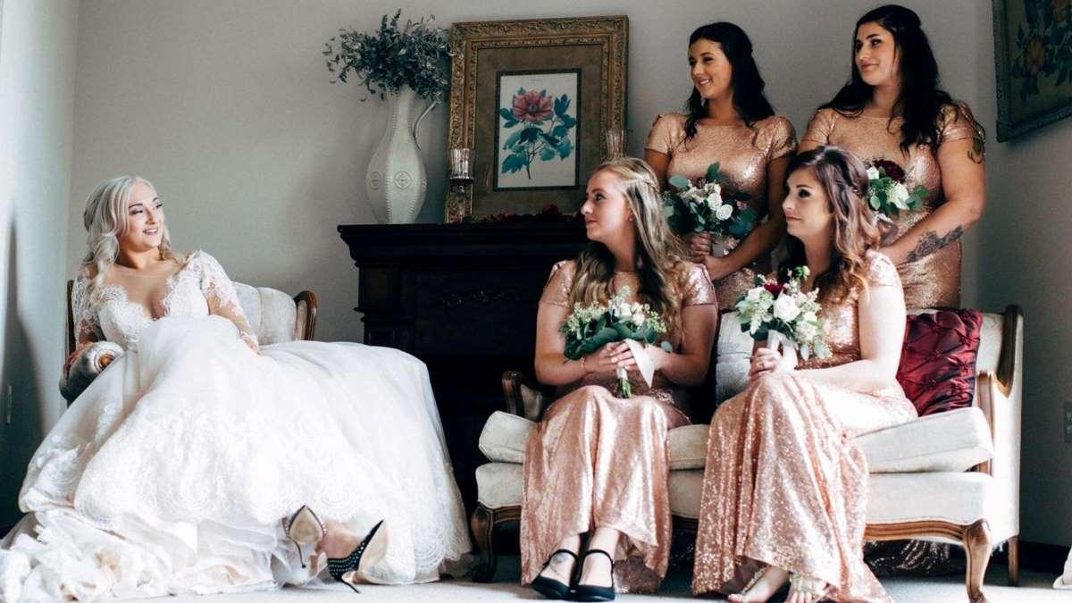 Las damas de honor forman un «equipo» único con la novia