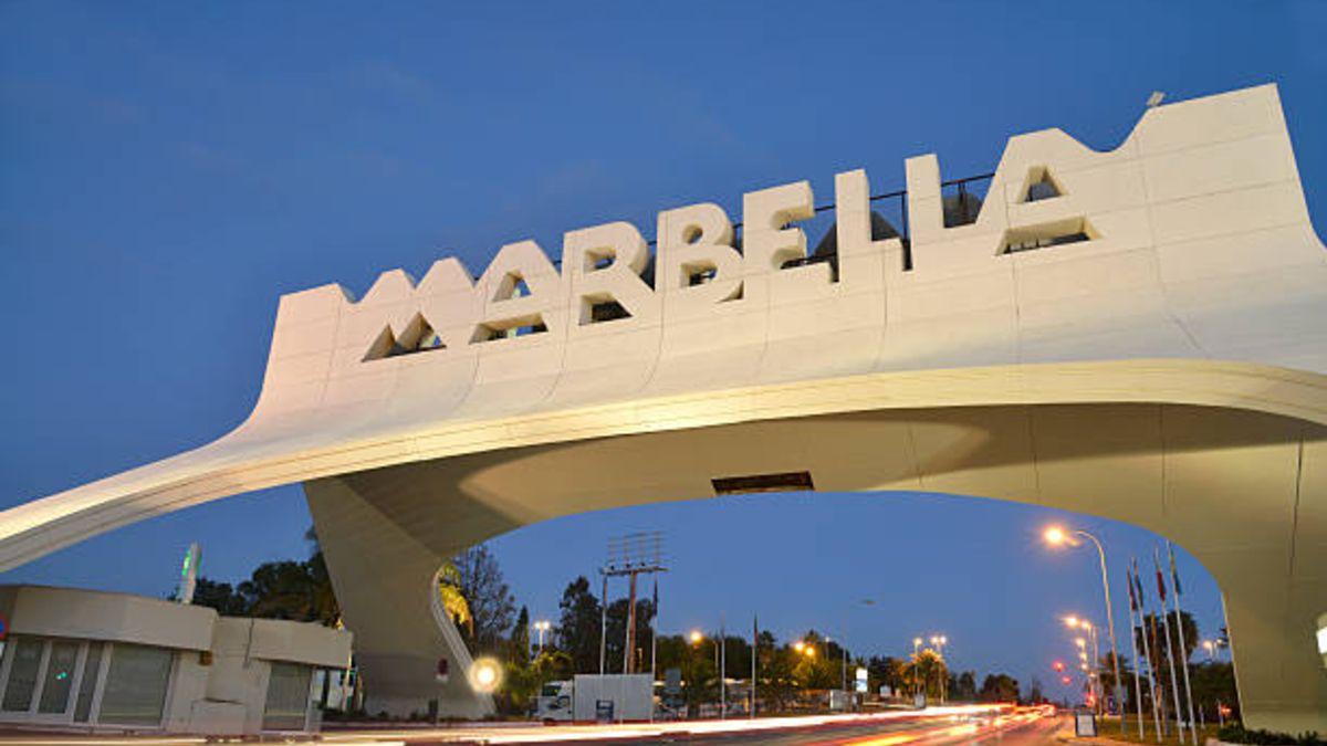 Imagen de un cartel de Marbella.