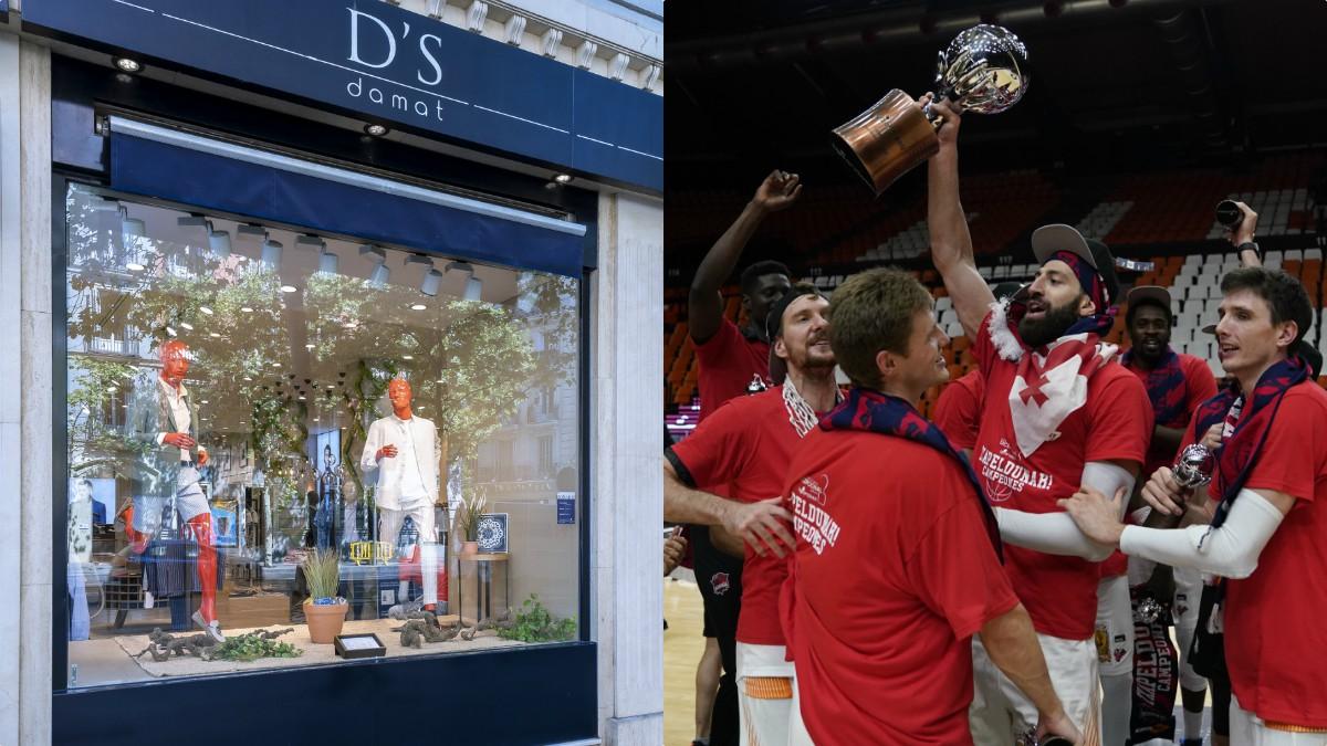D'S damat y Baskonia llegan a un acuerdo para exponer la Copa de campeón de la Liga Endesa.