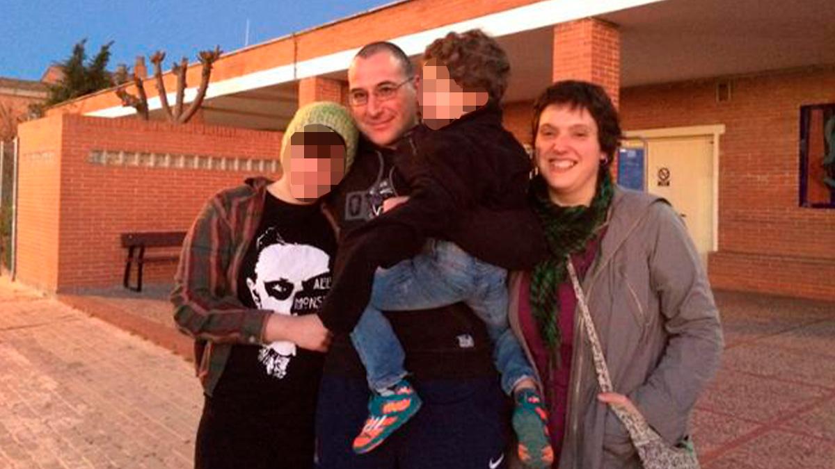 El etarra Alfonso Castro cuando salió de la cárcel de Cádiz en marzo de 2015.