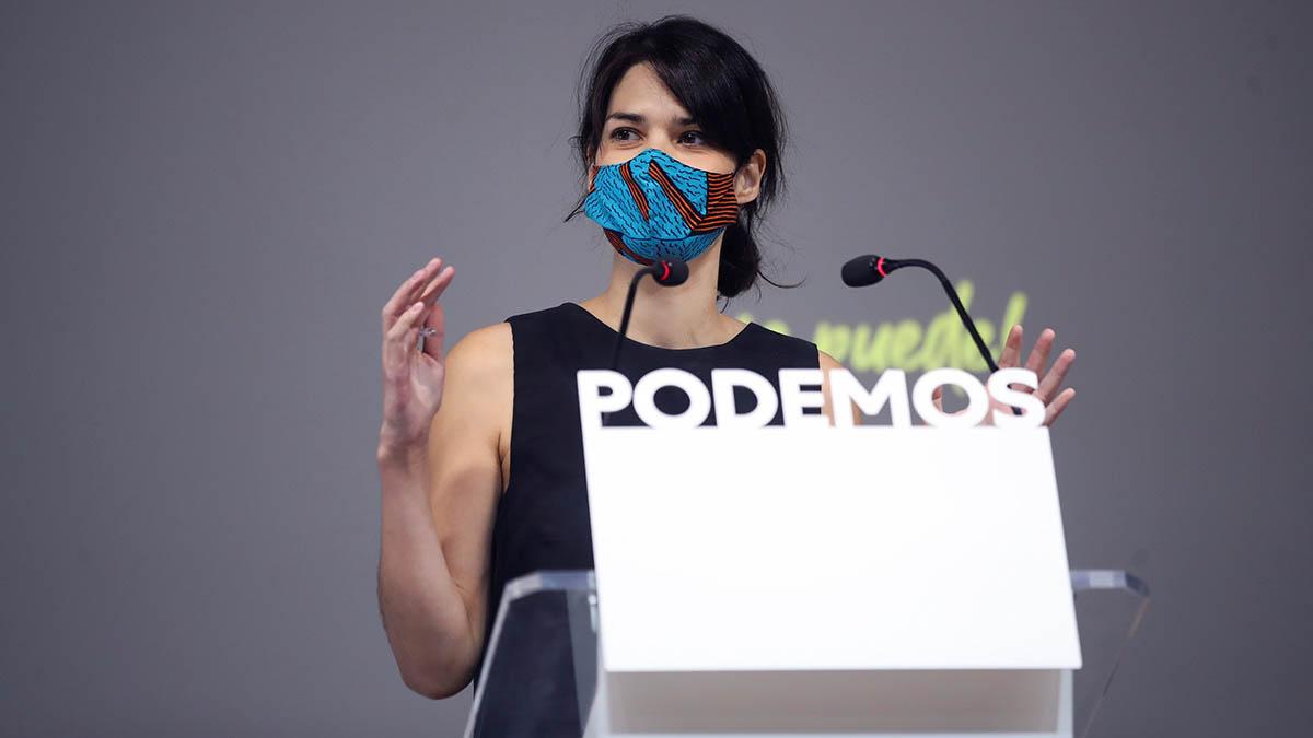 La portavoz de Podemos en la Asamblea de Madrid, Isa Serra.
