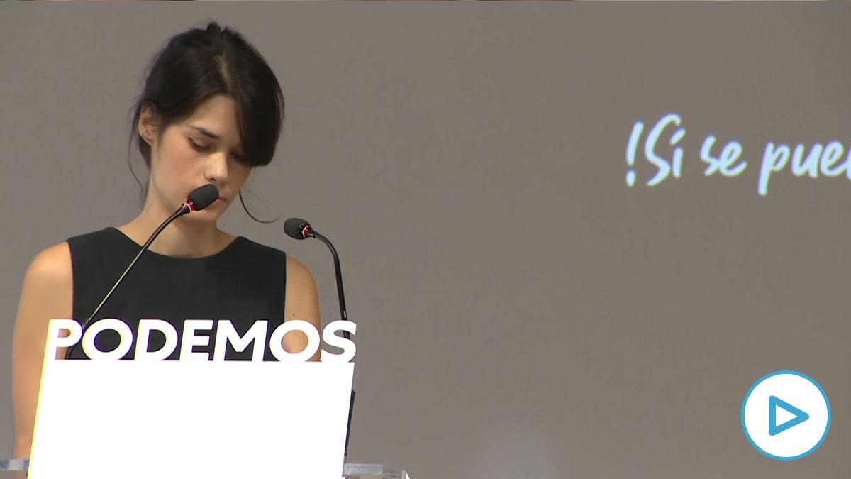 La portavoz de Podemos, Isa Serra.
