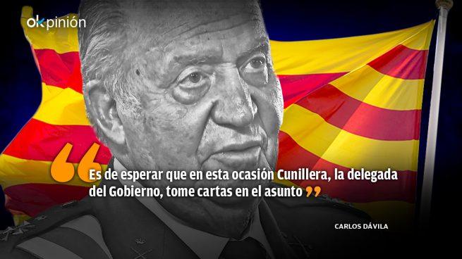 Los catalanes se pelean y patean a Don Juan Carlos