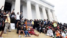 Protestas contra la violencia racial en Washington (Foto: AFP)