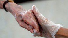 Anciana en una residencia