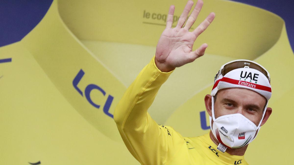Kristoff, primer líder del Tour 2020. (AFP)