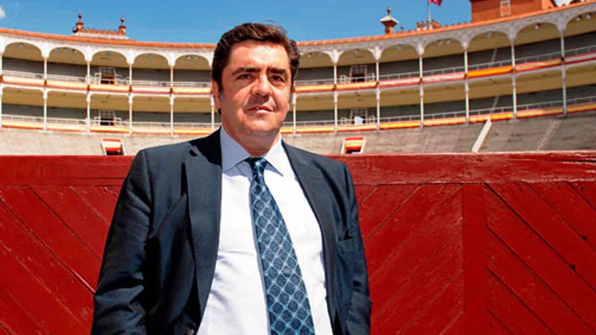 El empresario de la plaza de toros de Alcalá de Henares,Martínez Erice.