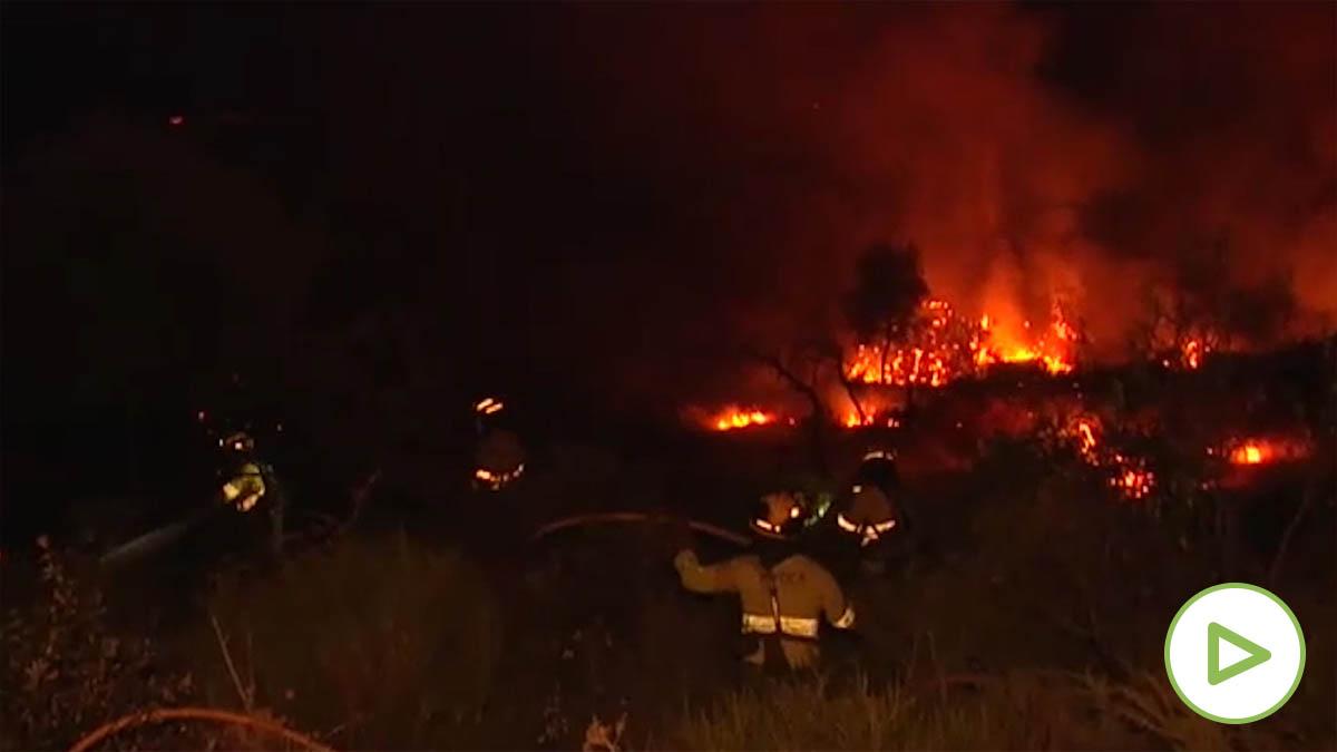Fuego en Huelva
