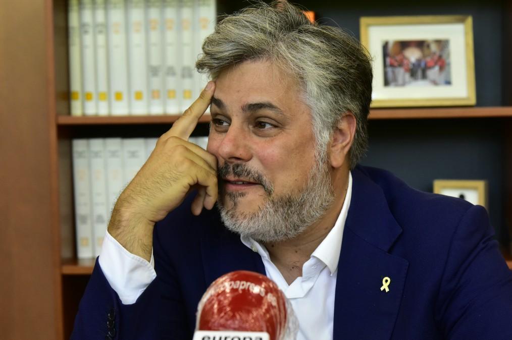 El presidente de JxCat en el Parlament de Catalunya, Albert Batet,. Foto: Europa Press