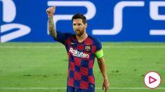 Messi celebra un gol con el Barcelona (AFP)