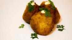 Receta de Bombas de patata y bacalao