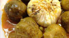 Receta de Coles de Bruselas en salsa de cúrcuma