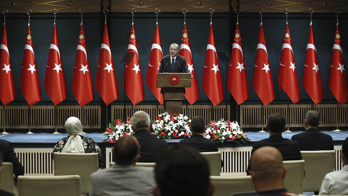 El presidente Turco Recep Tayyip Erdogan en la rueda de prensa que mantuvo el pasado 24 de agosto.