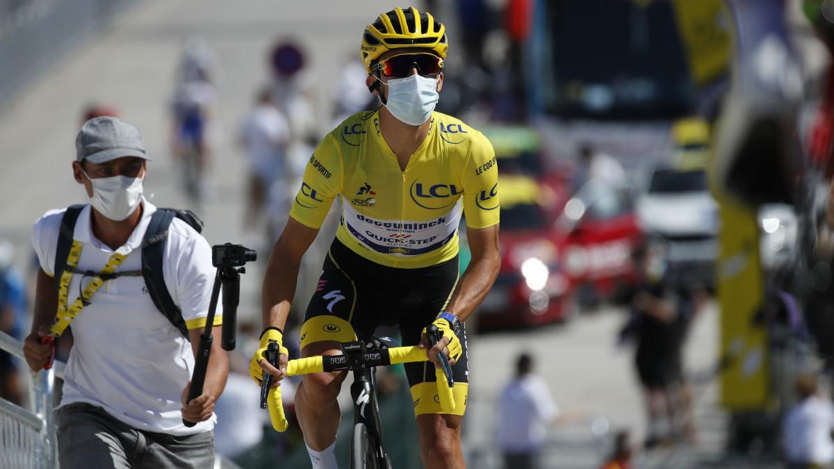Julian Alaphilippe, antes de la salida. (AFP)