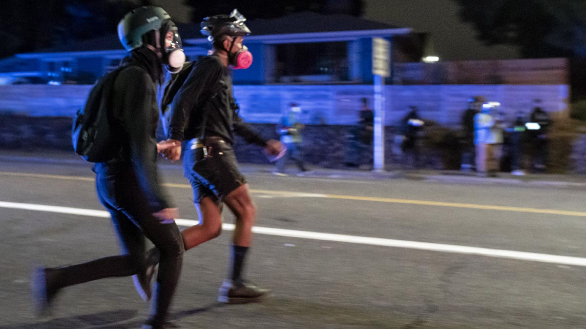 Disturbios en Portland (Foto: AFP)