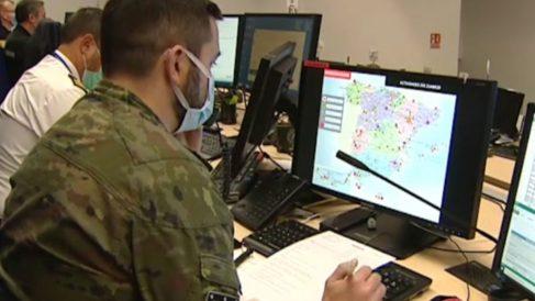 Un rastreador militar del Ejército de Tierra.