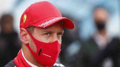 Sebastian Vettel con Ferrari. (AFP)