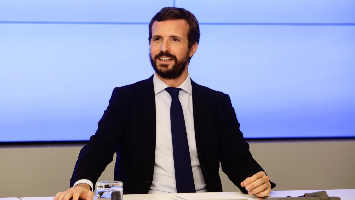 El presidente del Partido Popular, Pablo Casado (Foto: EFE)