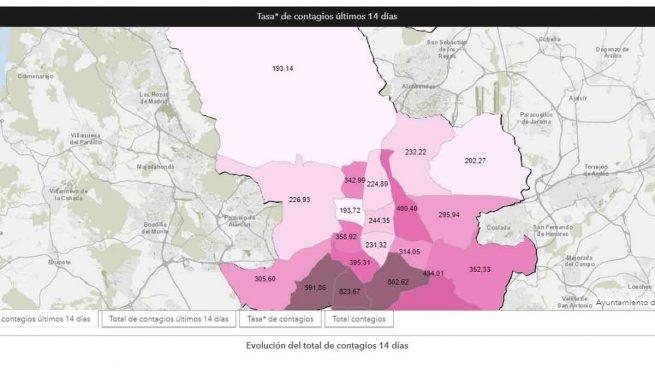 madrid coronavirus mapa interactivo