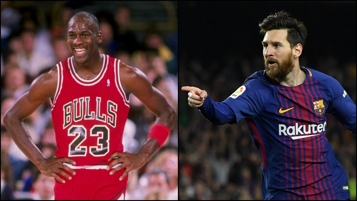 Michael Jordan y Leo Messi.