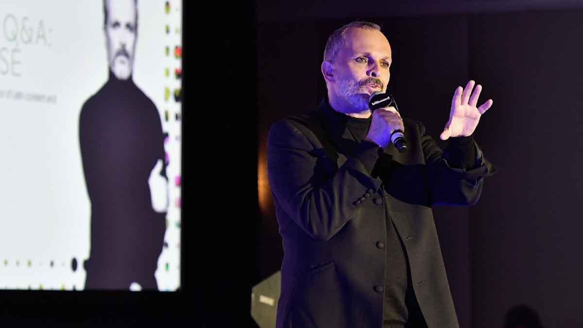 El cantante Miguel Bosé. Foto: AFP