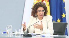 La ministra portavoz y de Hacienda, María Jesús Montero, ofrece una rueda de prensa posterior al Consejo de Ministros en Moncloa, en Madrid (España), a 1 de septiembre de 2020. Foto: EP