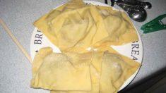 Receta de Raviolis de pera con salsa de frutos secos