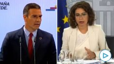 Lo que decía Pedro Sánchez este lunes y lo que dice su Gobierno este martes.