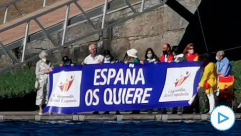 Felipe VI es recibido en Tuy con gritos de «¡Viva el Rey!» y ¡»España os quiere!».