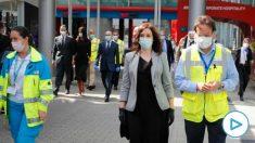 Isabel Díaz Ayuso asiste al acto de clausura del hospital de Ifema, en Madrid (Foto: Comunidad de Madrid)