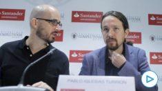 El líder de Podemos, Pablo Iglesias, y su 'gurú' económico Nacho Álvarez.