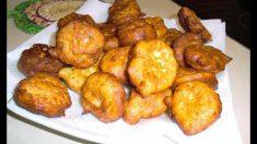 Receta de Buñuelos de borraja y mozzarella