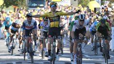 Wout Van Aert, ganador de la etapa 5 del Tour de Francia 2020. (AFP)