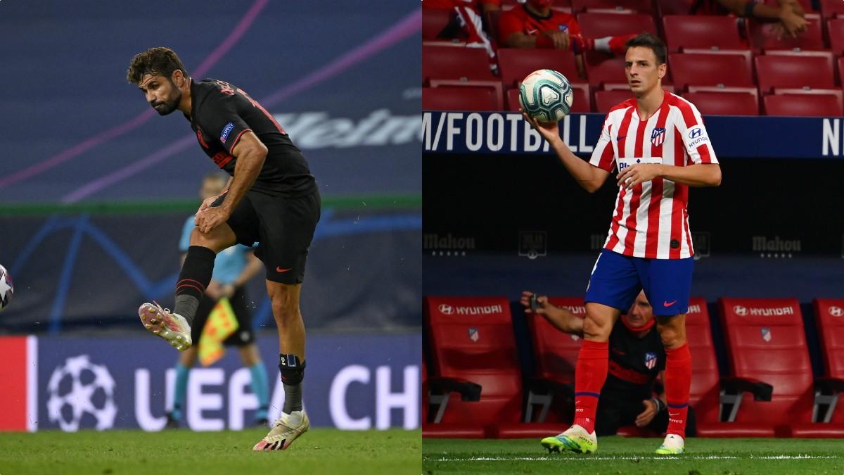 Diego Costa y Santiago Arias. (AFP)