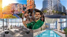 Djokovic y varias de sus propiedades.
