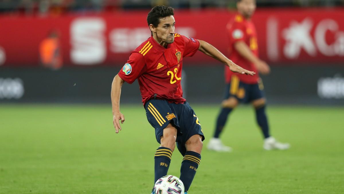 Jesús Navas, en un partido con España. (Getty)