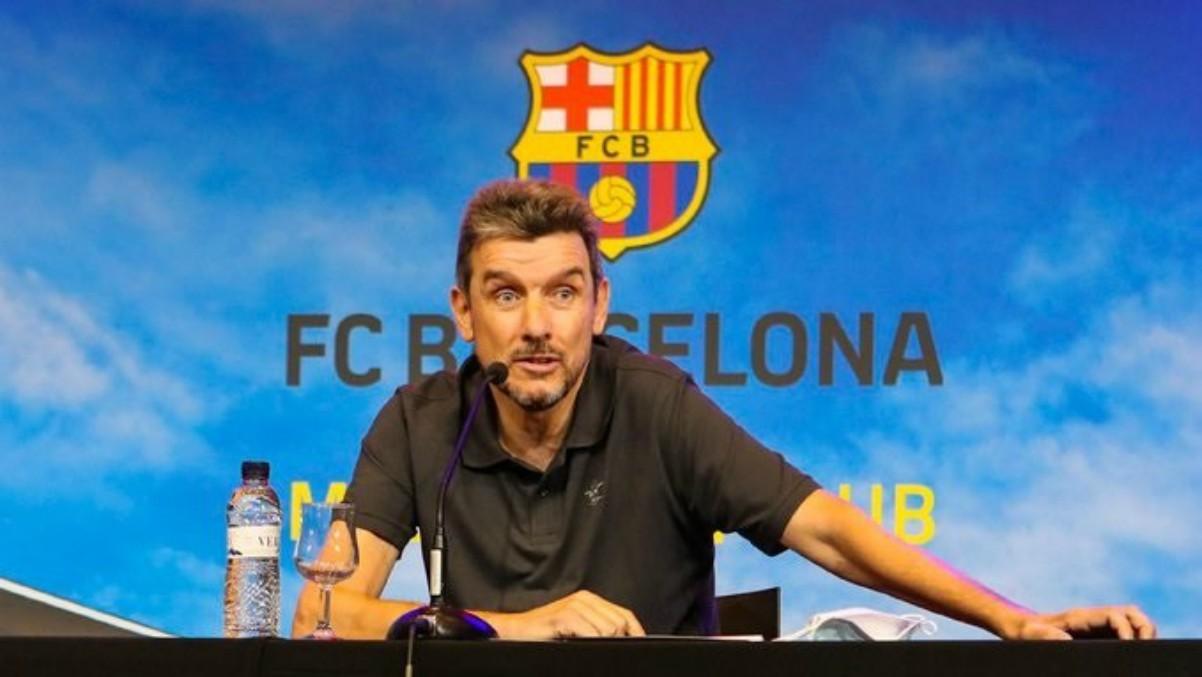 Juan Carlos Unzué durante su etapa en el Barcelona. (fcbarcelona.cat)