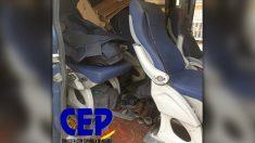 Furgoneta de las UIP de la Policía Nacional desplazada a la Diada. (Foto: CEP)