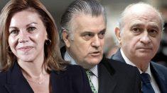 María Dolores de Cospedal, Luis Bárcenas y Jorge Fernández-Díaz