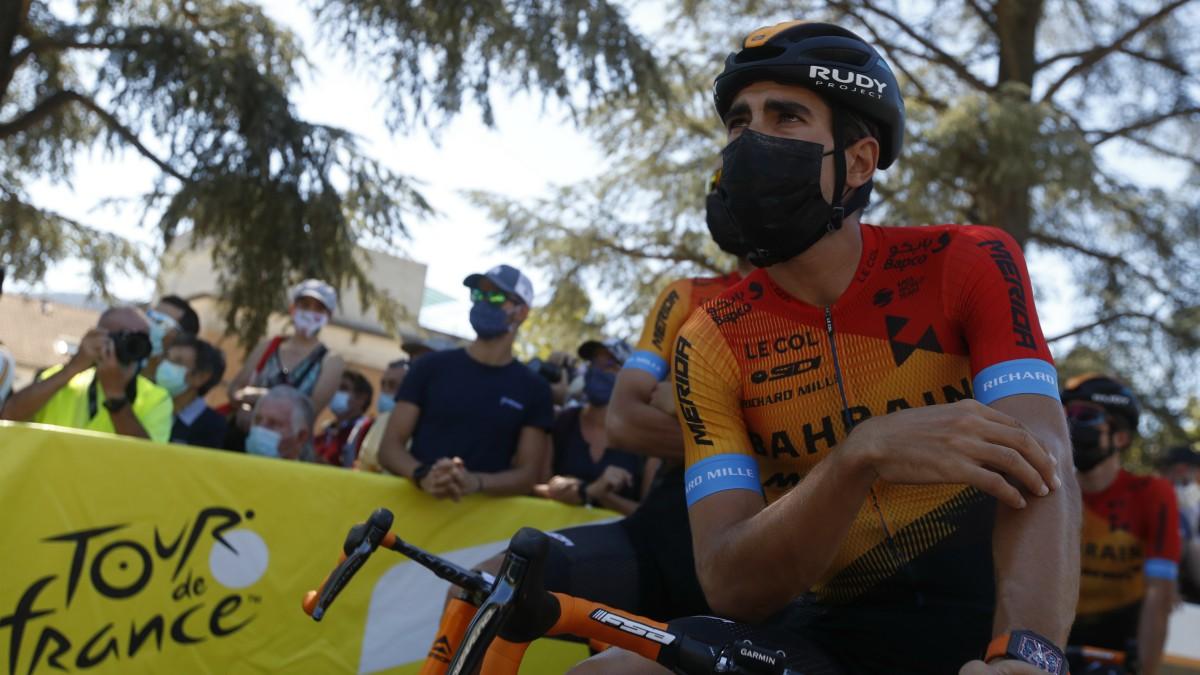 Mikel Landa, antes del inicio de la etapa. (AFP)