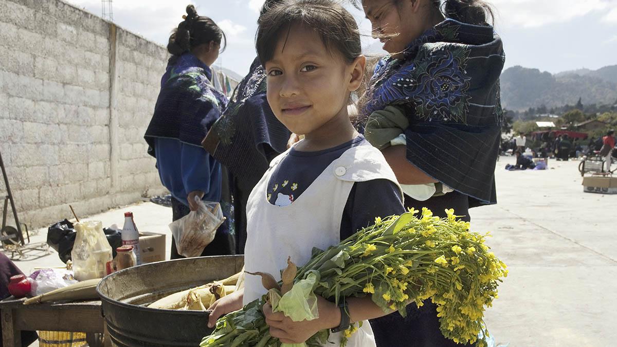 Una niña del pueblo indígena tzotzil.