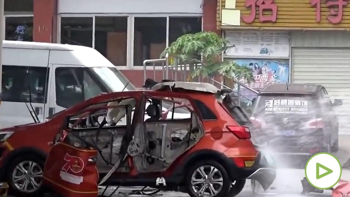 coche eléctrico explota China