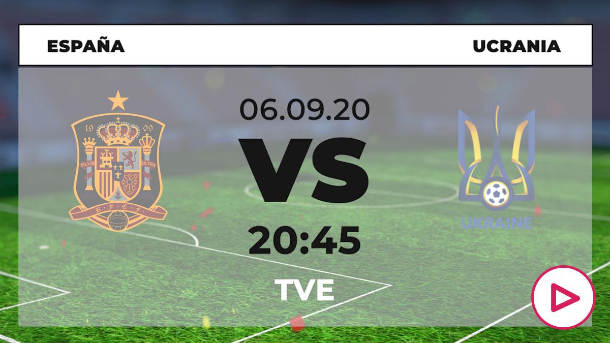 España – Ucrania: horario y dónde ver el partido de la Liga de las Naciones por TV online en directo hoy.