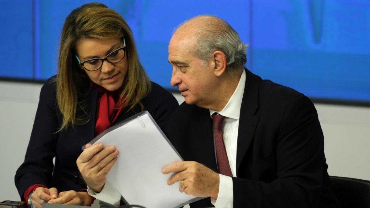 María Dolores de Cospedal y Jorge Fernández Díaz. (Foto: PP)