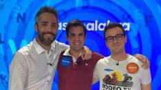 Nacho junto a Pablo y Roberto Leal en 'Pasapalabra'
